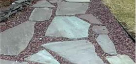 The rustic, casual look of Flagstone