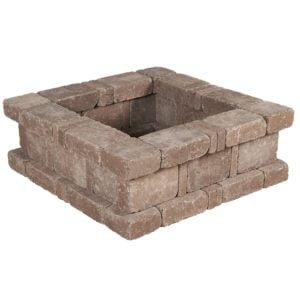 Rumblestone Square Fire Pit – Greystone