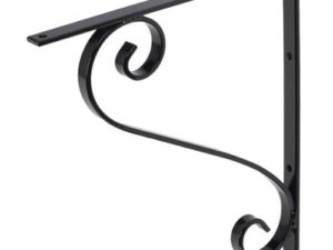 106 Iron Mailbox Bracket – Black