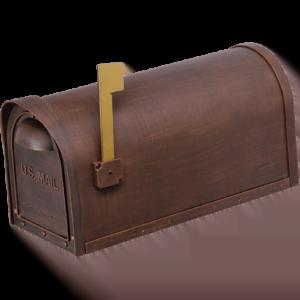 Cast Aluminum Mailbox – Copper